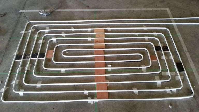 El circuito del suelo radiante por agua